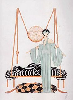 Pillow Swing 1985 Limited Edition Print by  Erte