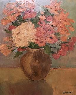 Bouquet De Madame 1999 32x28 Original Painting - Elizabeth Estivalet