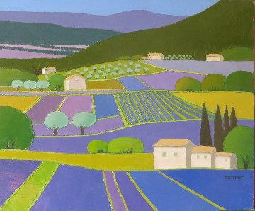 Lavandes En Provence 2017 23x21 Original Painting by Elizabeth Estivalet