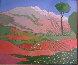 La Montagne Rose 1917 24x28 Original Painting by Elizabeth Estivalet - 1