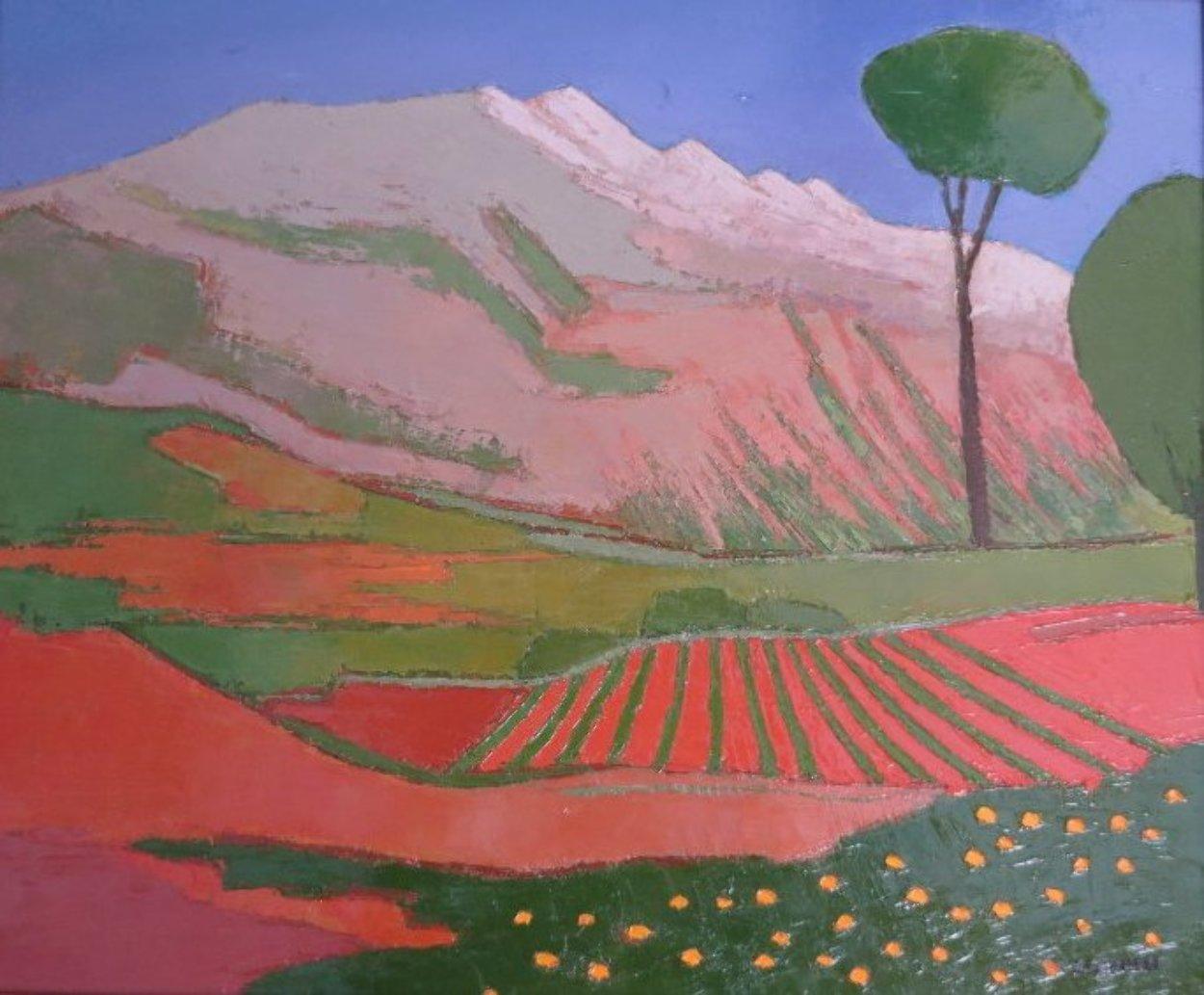 La Montagne Rose 1917 24x28 Original Painting by Elizabeth Estivalet