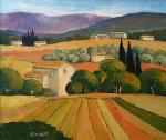 Verger Des Oliviers 1998 26x31 Original Painting - Elizabeth Estivalet