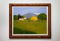 Genet Au Printempts 2001 35x30 Original Painting by Elizabeth Estivalet - 2