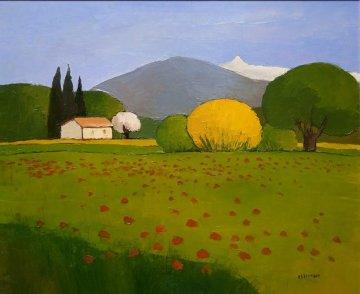 Genet Au Printempts 2001 35x30 Original Painting - Elizabeth Estivalet