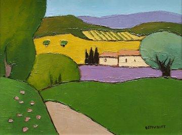 Untitled Landscape 20x16 Original Painting by Elizabeth Estivalet