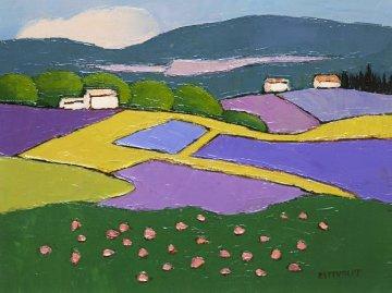 Untitled Landscape 20x16 Original Painting - Elizabeth Estivalet