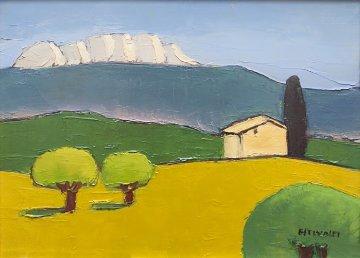 Untitled Landscape 18x14 Original Painting - Elizabeth Estivalet