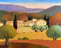 Hameau Du Vauclose 2000 38x31 Original Painting - Elizabeth Estivalet