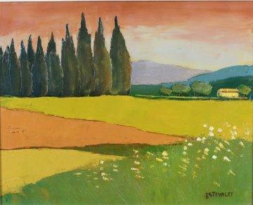 Idee De Calme 2000 19x22 Original Painting - Elizabeth Estivalet