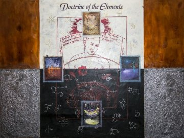 Doctrine of the Elements 48x64 Original Painting - Dennis Evans