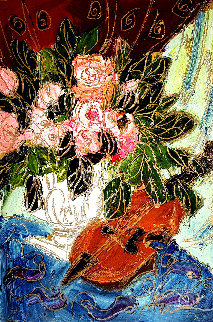 Untitled Still Life 2001 34x28 Original Painting by Maya Eventov