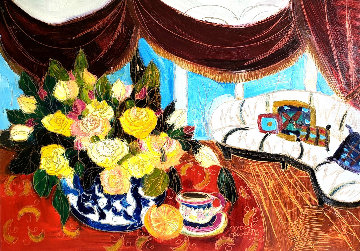 Untitled Still Life 2001 25x35 Works on Paper (not prints) by Maya Eventov