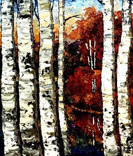 Untitled Nature Painting 57x47 Original Painting - Maya Eventov