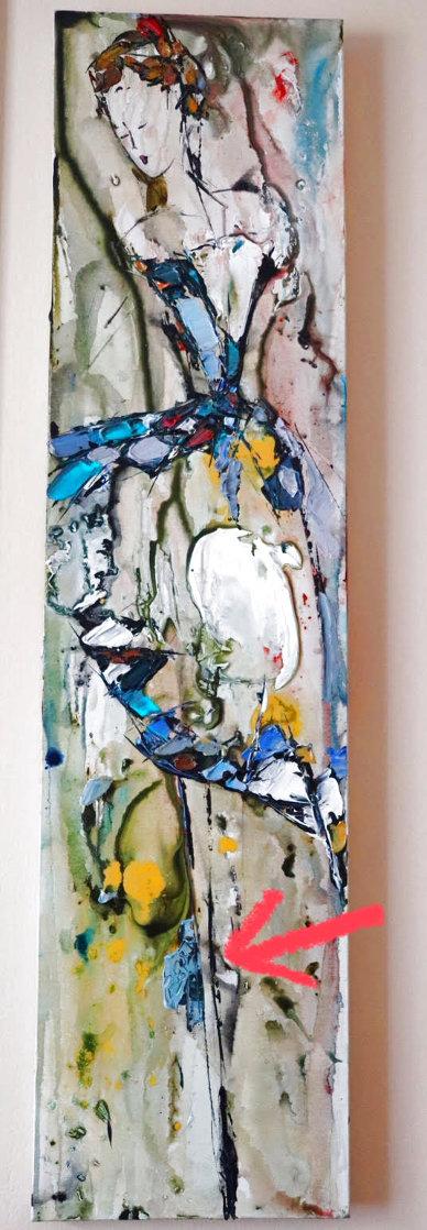 Abstract Dancer 2000 48x12 Huge Original Painting by Maya Eventov