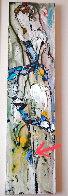 Abstract Dancer 2000 48x12 Huge Original Painting by Maya Eventov - 0