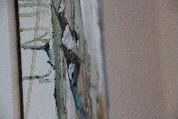 Abstract Dancer 2000 48x12 Huge Original Painting by Maya Eventov - 5
