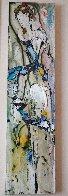 Abstract Dancer 2000 48x12 Huge Original Painting by Maya Eventov - 1