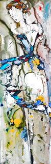 Abstract 2000 12x48 Huge Original Painting - Maya Eventov