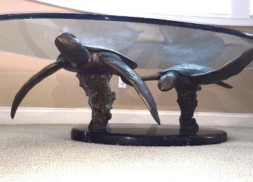 Honu-Honu Bronze Table Sculpture 66 in Sculpture by Dale Evers