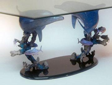Delphinus Ultimo Bronze Sculptured Table 66 in Sculpture - Dale Evers
