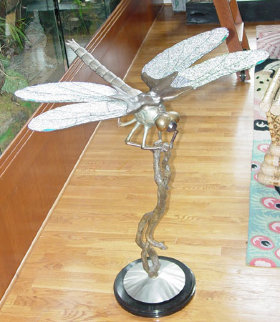 Dragonfly Bronze Sculpture AP 36 in Sculpture - Dale Evers