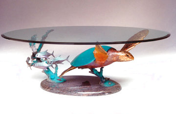 Honu Solo II Dining Table Unique 2004 48x72 Sculpture - Dale Evers