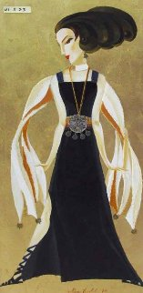 Black And Gold Glamour 2009 41x23 Original Painting - Alina Eydel
