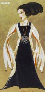 Black And Gold Glamour 2009 41x23 Super Huge  Original Painting - Alina Eydel