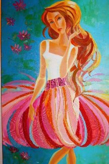 Beauty and the Beach 2010 48x24 Huge Original Painting - Alina Eydel