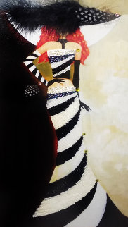 Myteniny Hat 2012 24x14 Original Painting by Alina Eydel