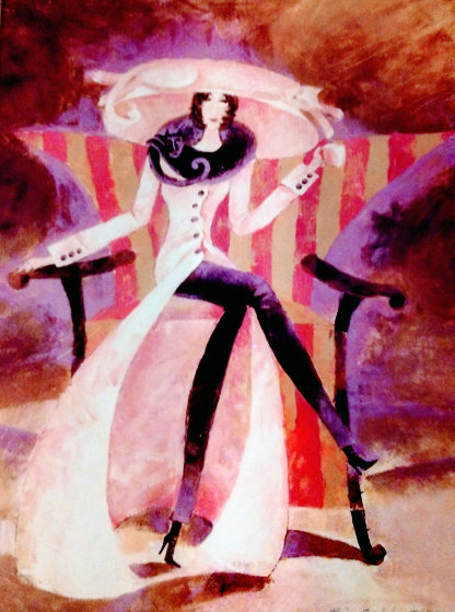 Lady Pink Coat 2003 Limited Edition Print by Alina Eydel