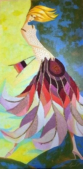 Stimpson Lilly Dress 2009 36x18 Original Painting by Alina Eydel