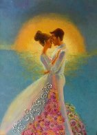 Untitled Painting - Happy Couple 2011 24x18 Original Painting by Alina Eydel - 1