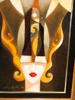 Siamese Turban 2006 18x36 Original Painting by Alina Eydel - 4