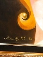 Siamese Turban 2006 18x36 Original Painting by Alina Eydel - 5