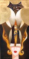 Siamese Turban 2006 18x36 Original Painting by Alina Eydel - 0