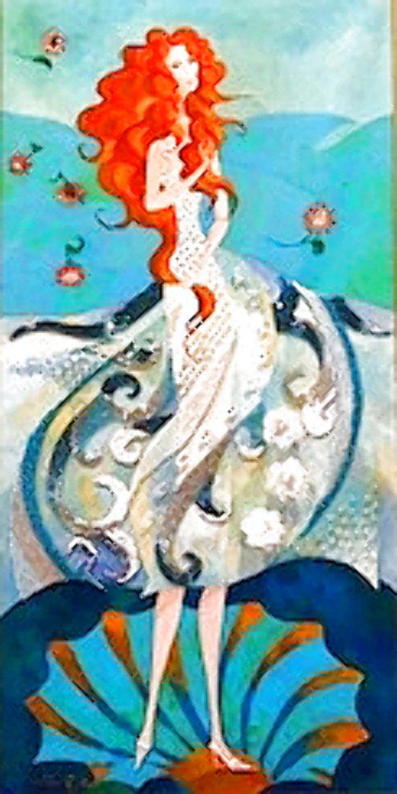 Birth of Venus - Reminiscence of Botticelli (Remake I) 2006 18x36 Original Painting by Alina Eydel