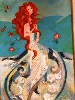 Birth of Venus - Reminiscence of Botticelli (Remake I) 2006 18x36 Original Painting by Alina Eydel - 3