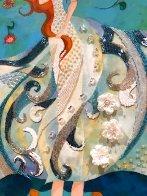 Birth of Venus - Reminiscence of Botticelli (Remake I) 2006 18x36 Original Painting by Alina Eydel - 4