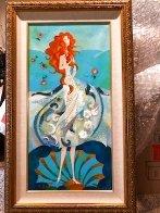 Birth of Venus - Reminiscence of Botticelli (Remake I) 2006 18x36 Original Painting by Alina Eydel - 1