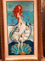 Birth of Venus - Reminiscence of Botticelli (Remake I) 2006 18x36 Original Painting by Alina Eydel - 2