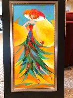 Palm Tree Hat: Tropical Collection 2007 43x26 Original Painting by Alina Eydel - 1