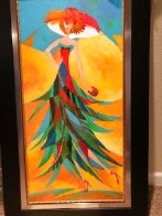 Palm Tree Hat: Tropical Collection 2007 43x26 Original Painting by Alina Eydel - 4