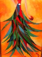 Palm Tree Hat: Tropical Collection 2007 43x26 Original Painting by Alina Eydel - 6