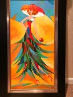 Palm Tree Hat: Tropical Collection 2007 43x26 Original Painting by Alina Eydel - 3