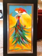 Palm Tree Hat: Tropical Collection 2007 43x26 Original Painting by Alina Eydel - 2