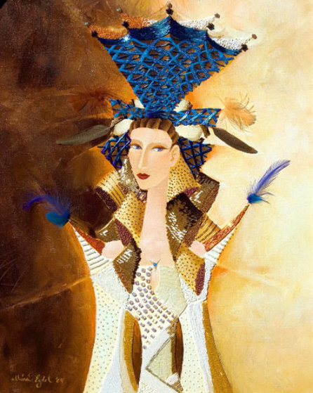 Blue Crown 2004 36x30 Original Painting by Alina Eydel