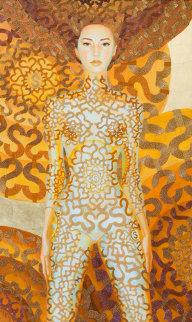 Dollar Mandala 2012 66x42 Original Painting - Alina Eydel