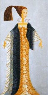 Art Deco Inspired #2, 2012 40x23 Original Painting by Alina Eydel