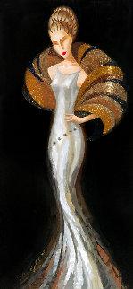 Silk III 2007 27x45 Original Painting - Alina Eydel